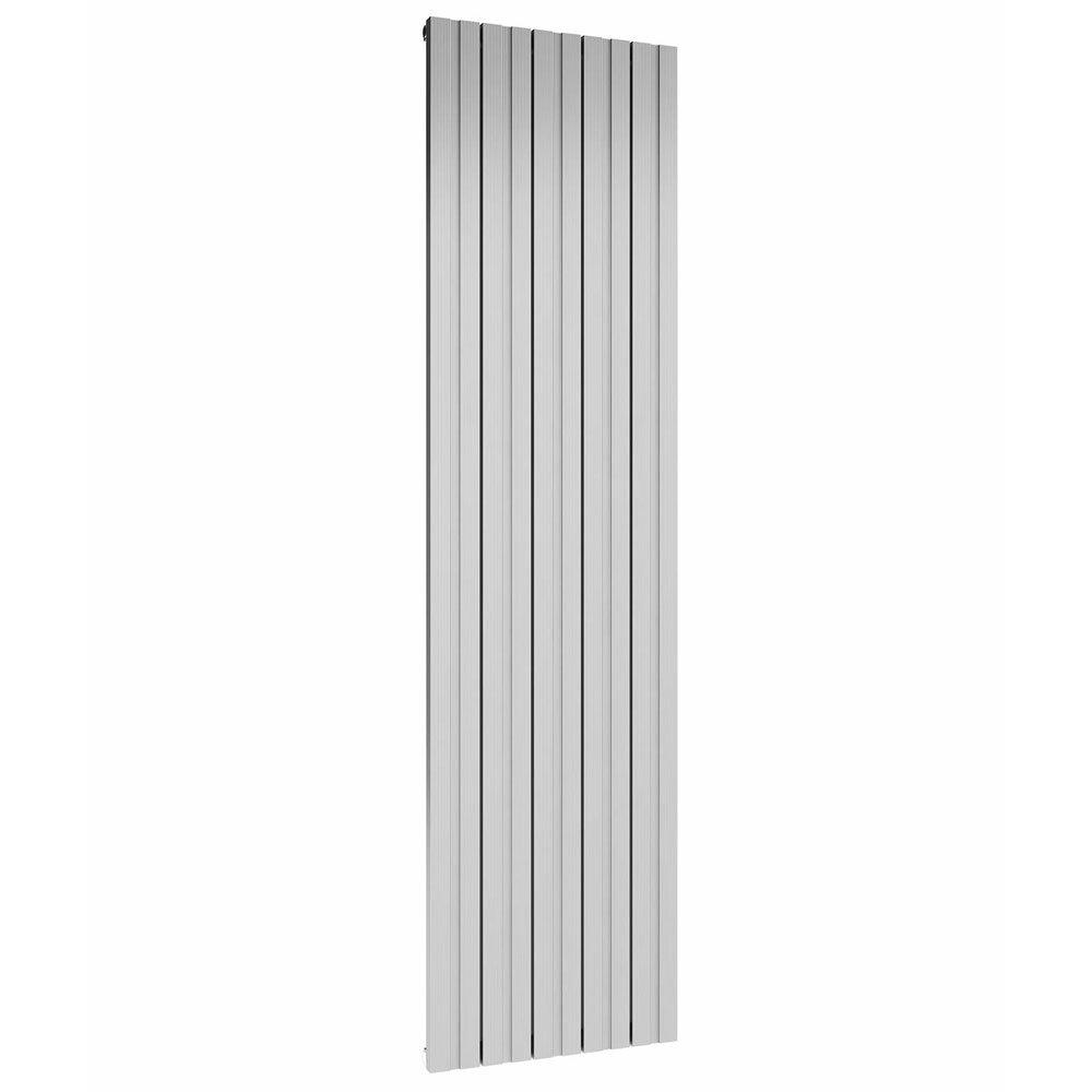 Reina Bova Vertical Double Panel Aluminium Radiator - Polished profile large image view 1