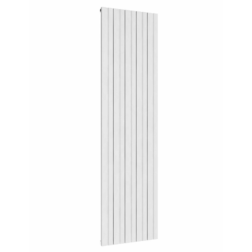 Reina Bova Vertical Double Panel Aluminium Radiator - White Large Image