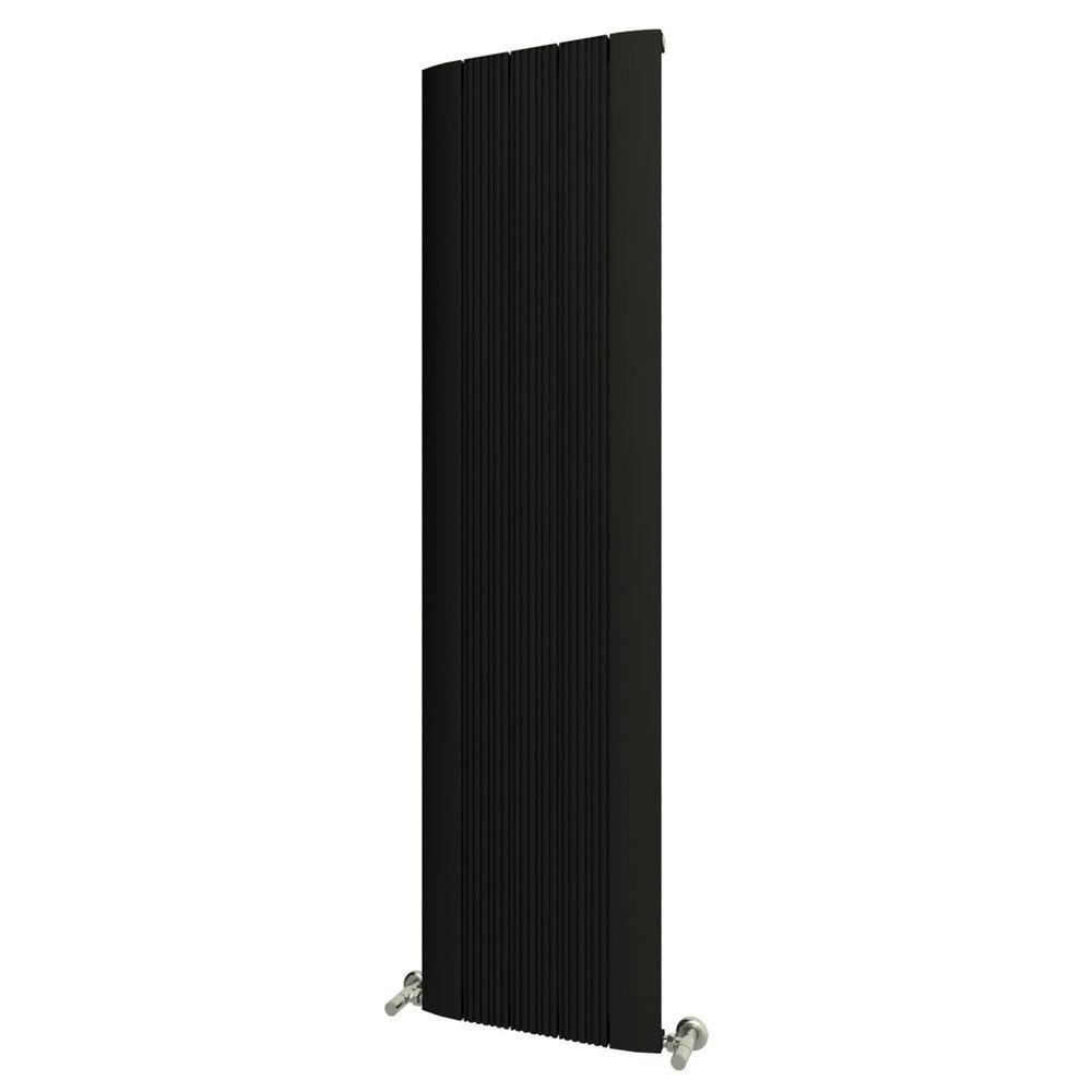 Reina Dalia Vertical Aluminium Radiator - Black Large Image