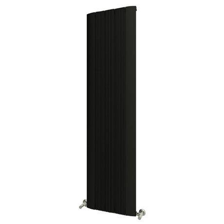 Reina Dalia Vertical Aluminium Radiator - Black