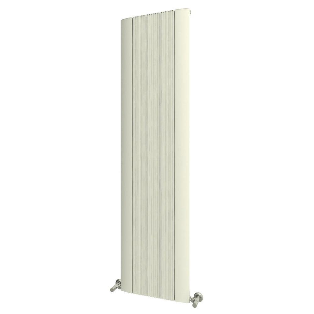 Reina Dalia Vertical Aluminium Radiator - White Large Image
