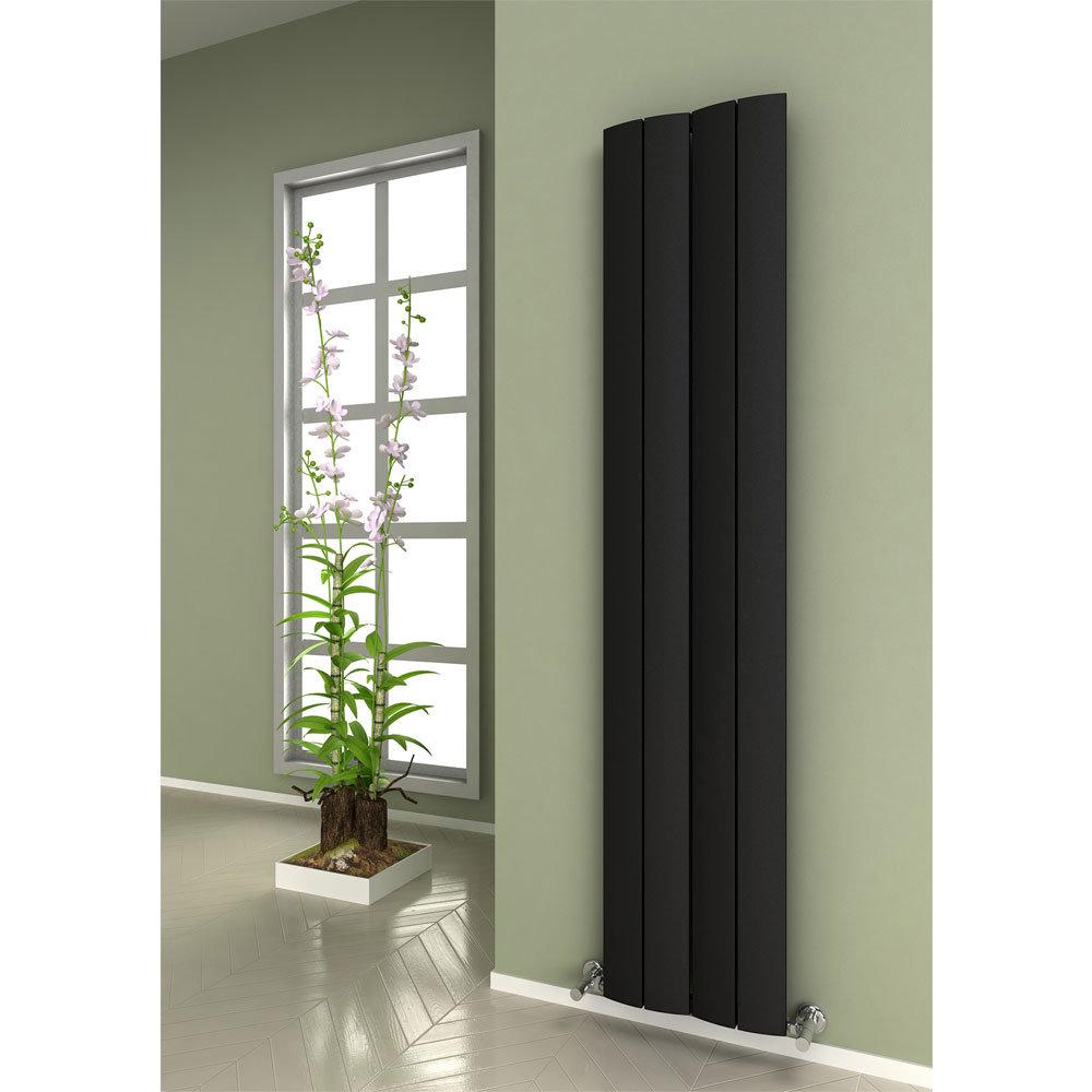 Reina Evago Vertical Aluminium Radiator - White Profile Large Image