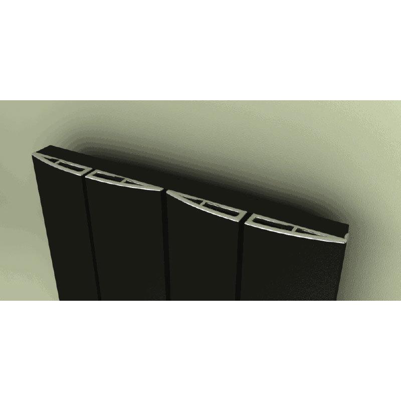 Reina Evago Vertical Aluminium Radiator - White Feature Large Image