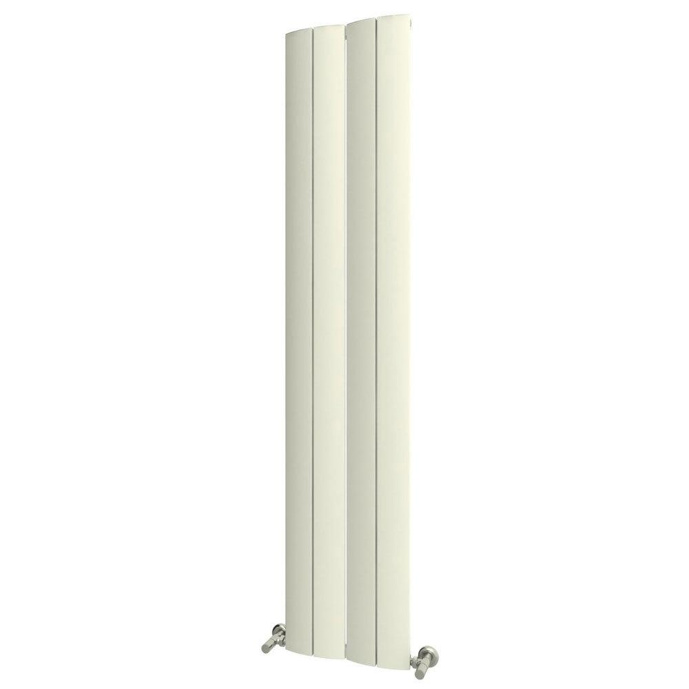 Reina Evago Vertical Aluminium Radiator - White Large Image