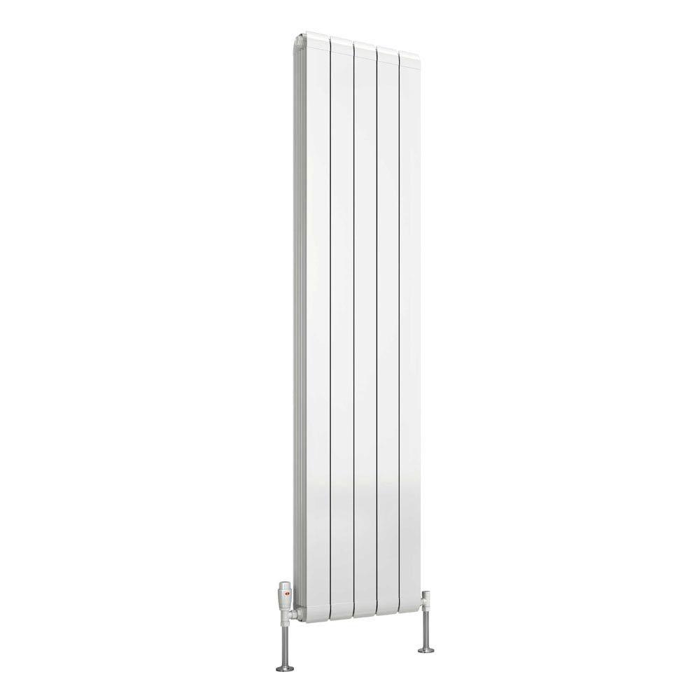 Reina Evie Vertical Aluminium Radiator - White profile large image view 2