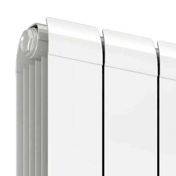 Reina Evie Vertical Aluminium Radiator - White  Feature Large Image