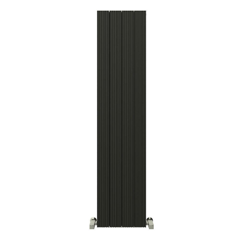 Reina Enzo Vertical Aluminium Radiator - Black Large Image