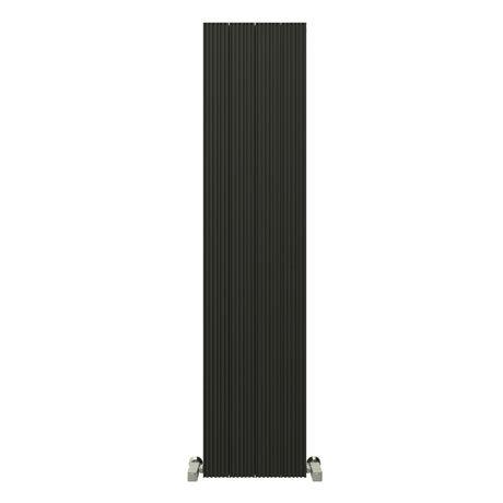 Reina Enzo Vertical Aluminium Radiator - Black