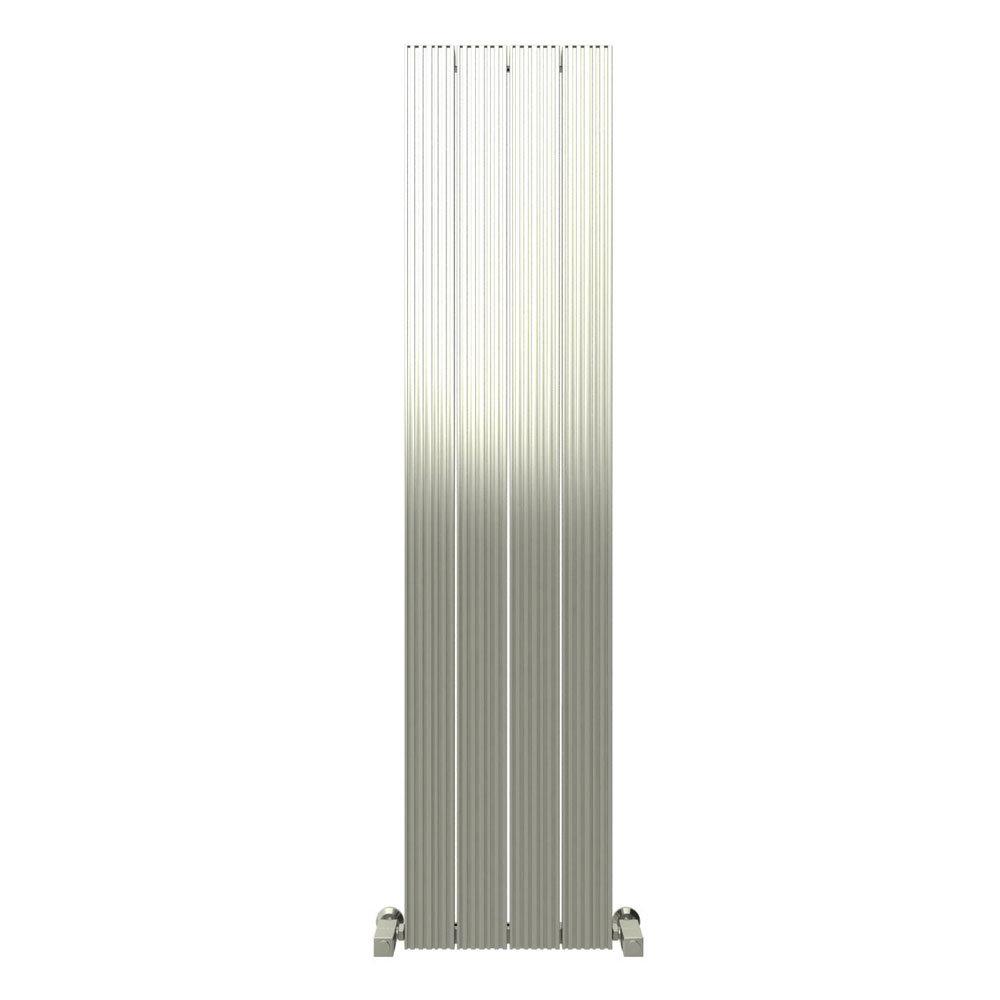 Reina Enzo Vertical Aluminium Radiator - Polished Large Image