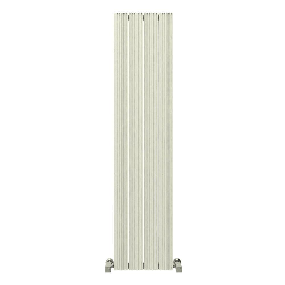 Reina Enzo Vertical Aluminium Radiator - White profile large image view 1
