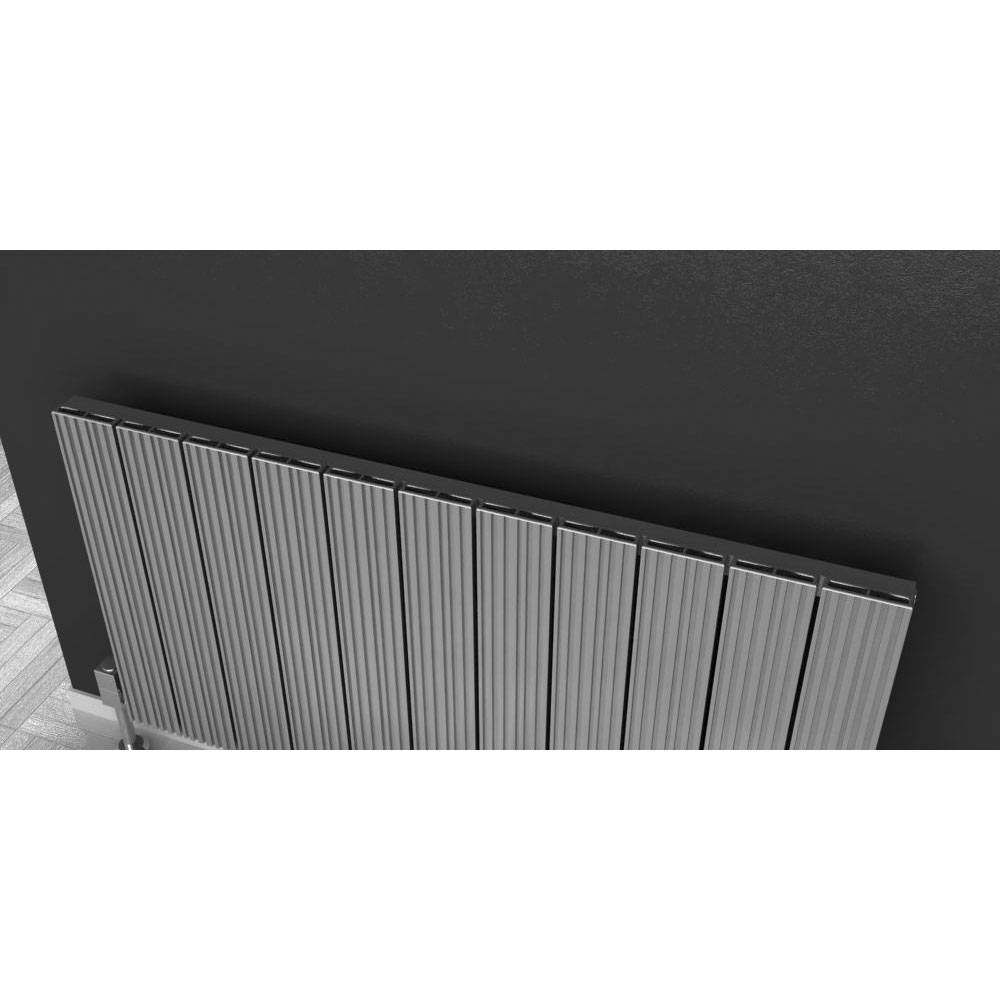Reina Enzo Horizontal Aluminium Radiator - White Feature Large Image