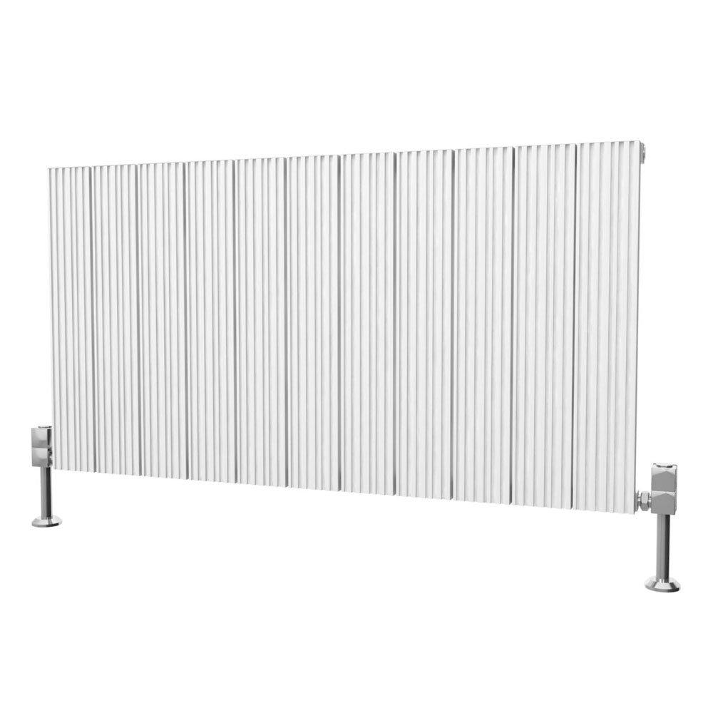 Reina Enzo Horizontal Aluminium Radiator - White profile large image view 1