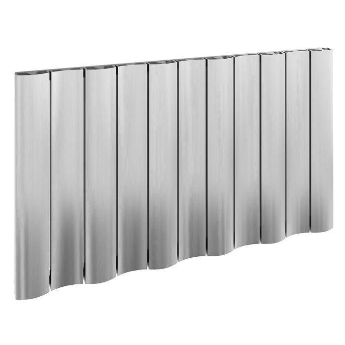 Reina Gio Horizontal Single Panel Aluminium Radiator - Polished Large Image