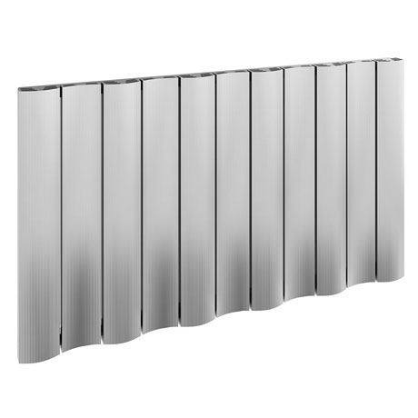 Reina Gio Horizontal Double Panel Aluminium Radiator - Polished
