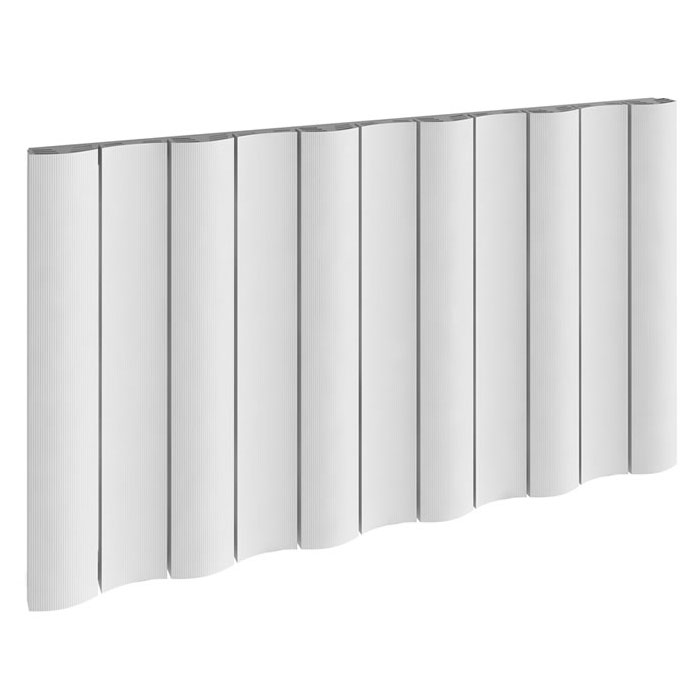 Reina Gio Horizontal Double Panel Aluminium Radiator - White Large Image