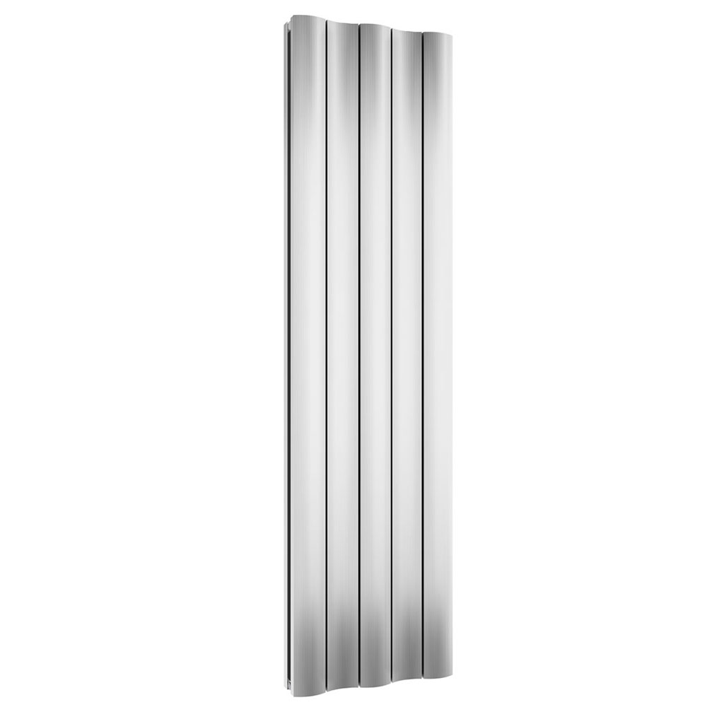 Reina Gio Vertical Double Panel Aluminium Radiator - Polished Large Image