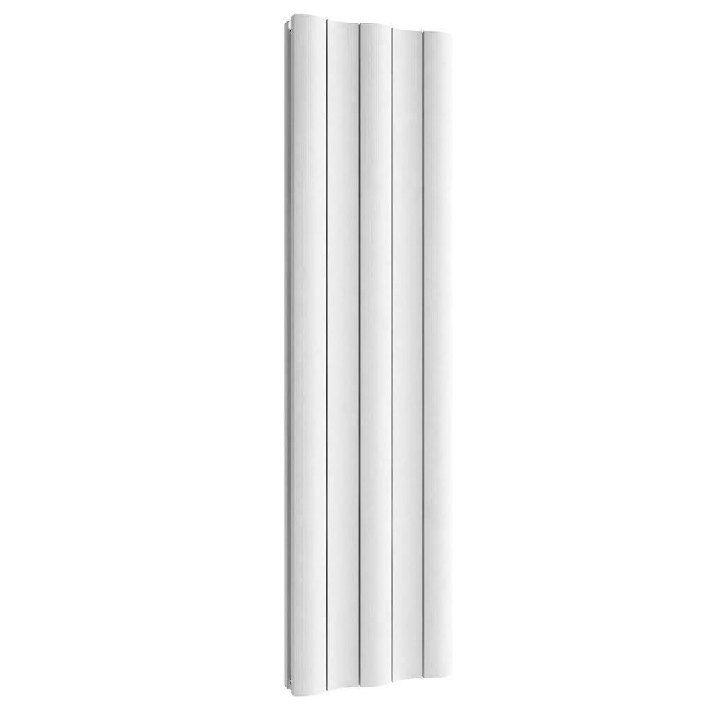 Reina Gio Vertical Single Panel Aluminium Radiator - White Large Image