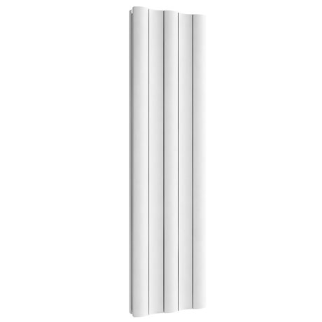 Reina Gio Vertical Double Panel Aluminium Radiator - White