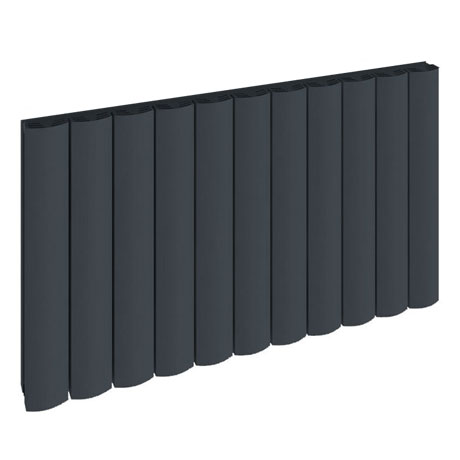 Reina Greco Horizontal Single Panel Aluminium Radiator - Anthracite