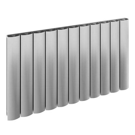 Reina Greco Horizontal Single Panel Aluminium Radiator - Polished