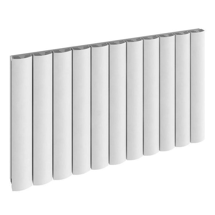 Reina Greco Horizontal Single Panel Aluminium Radiator - White Large Image