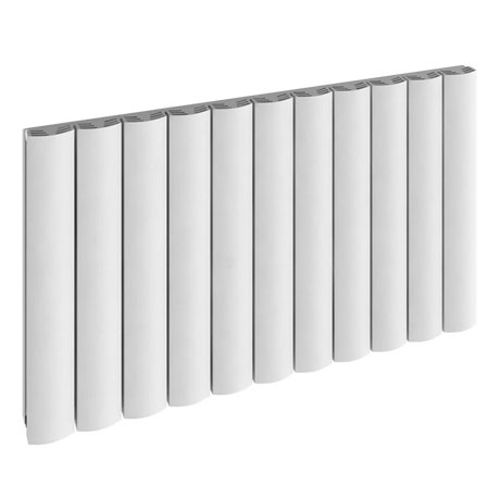 Reina Greco Horizontal Single Panel Aluminium Radiator - White