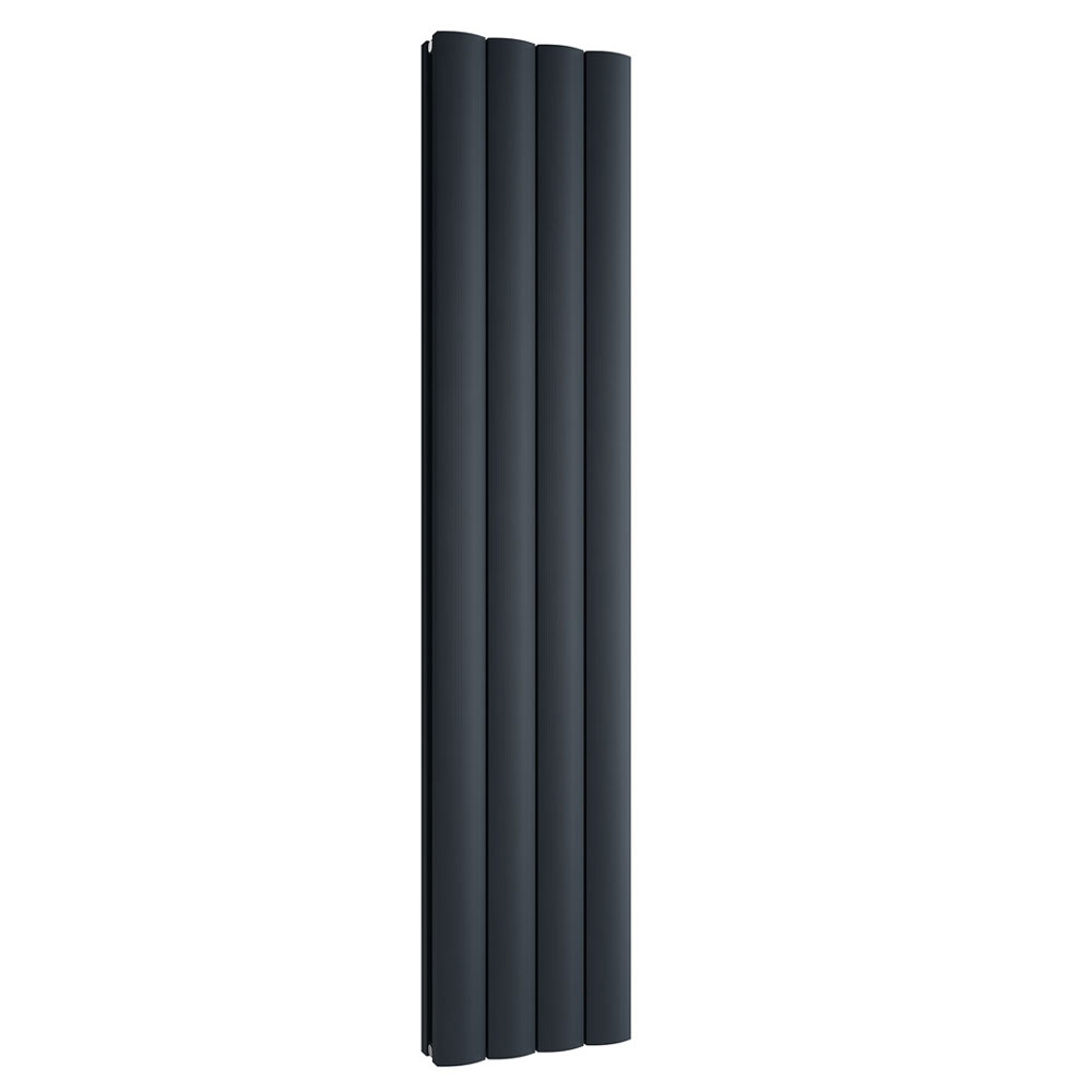 Reina Greco Vertical Double Panel Aluminium Radiator - Anthracite profile large image view 1