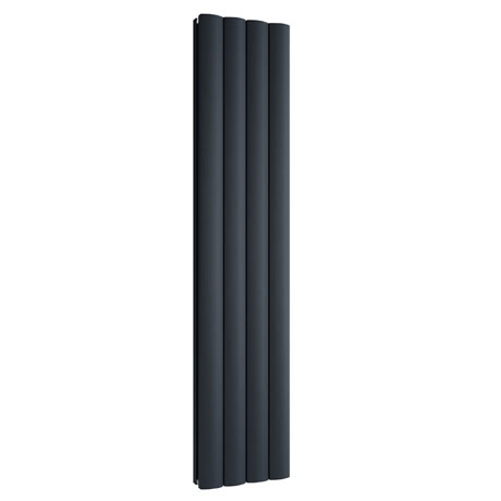 Reina Greco Vertical Double Panel Aluminium Radiator - Anthracite