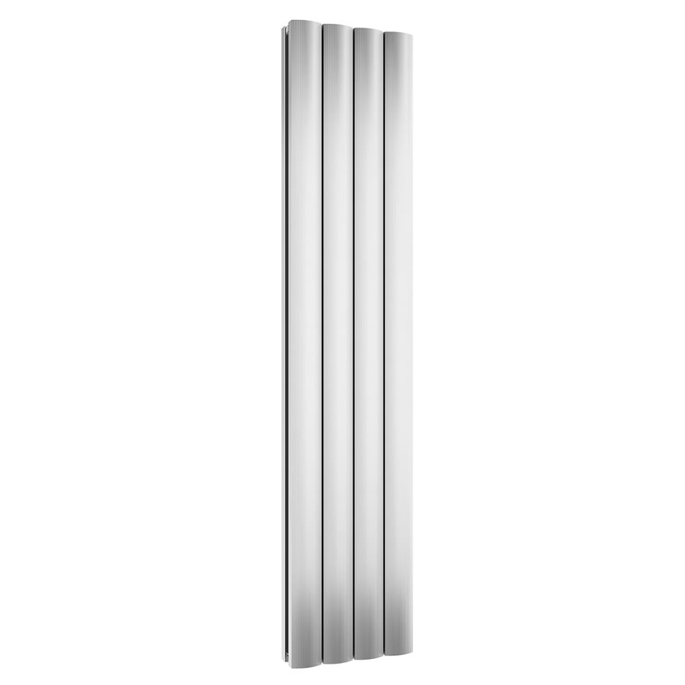 Reina Greco Vertical Double Panel Aluminium Radiator - Polished Large Image
