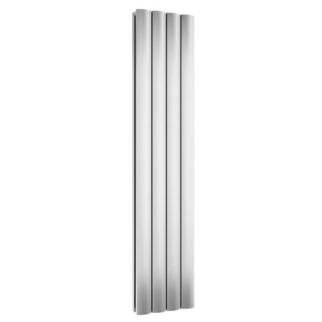 Reina Greco Vertical Single Panel Aluminium Radiator - Polished