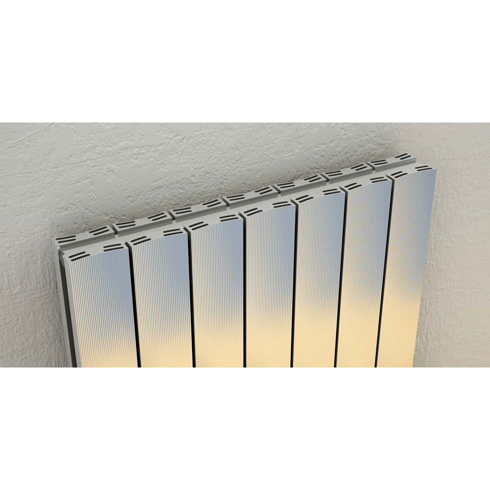 Reina Luca Horizontal Double Panel Aluminium Radiator - Polished Feature Large Image