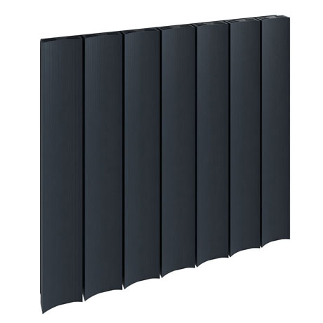 Reina Luca Horizontal Single Panel Aluminium Radiator - Anthracite