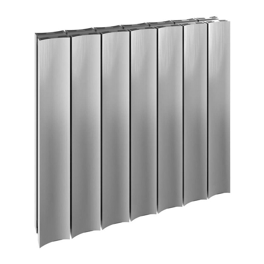 Reina Luca Horizontal Double Panel Aluminium Radiator - Polished Large Image