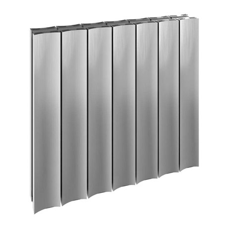Reina Luca Horizontal Double Panel Aluminium Radiator - Polished