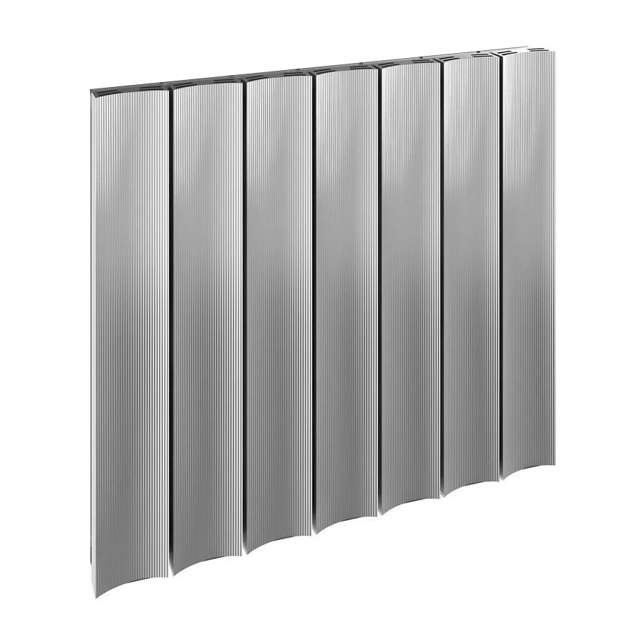 Reina Luca Horizontal Single Panel Aluminium Radiator - Polished Large Image