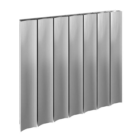 Reina Luca Horizontal Single Panel Aluminium Radiator - Polished