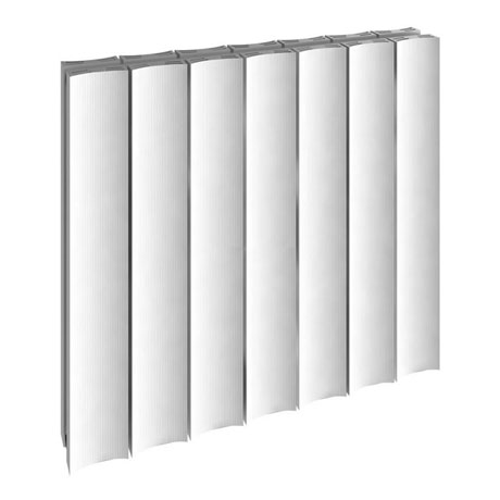 Reina Luca Horizontal Double Panel Aluminium Radiator - White