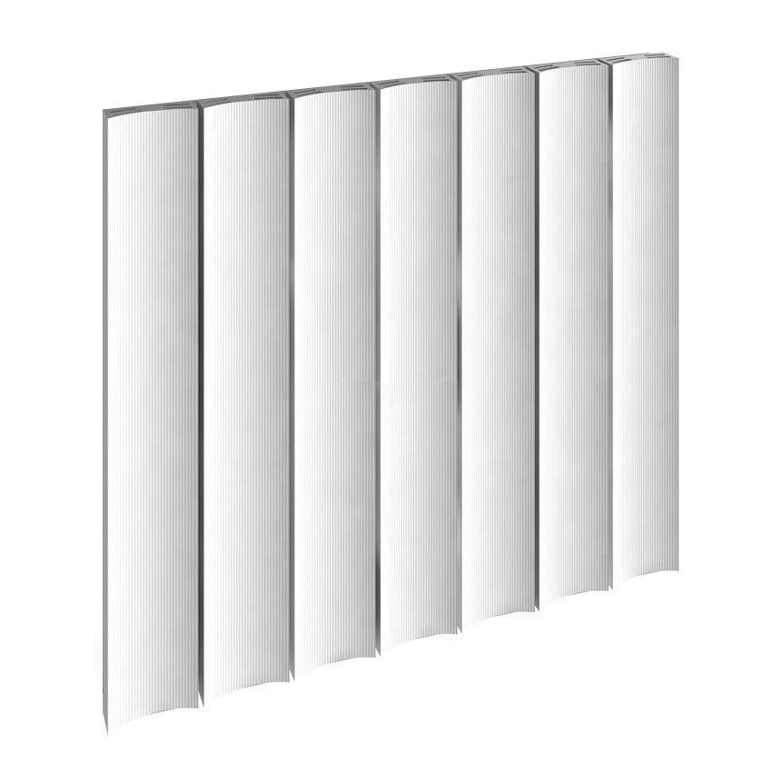 Reina Luca Horizontal Single Panel Aluminium Radiator - White Large Image