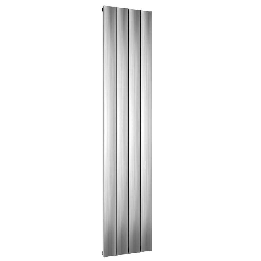 Reina Luca Vertical Single Panel Aluminium Radiator - Polished Large Image