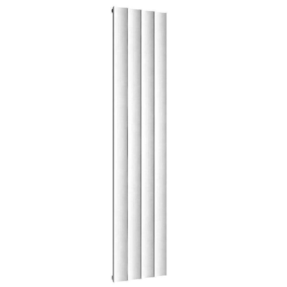 Reina Luca Vertical Single Panel Aluminium Radiator - White Large Image