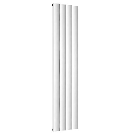 Reina Luca Vertical Single Panel Aluminium Radiator - White