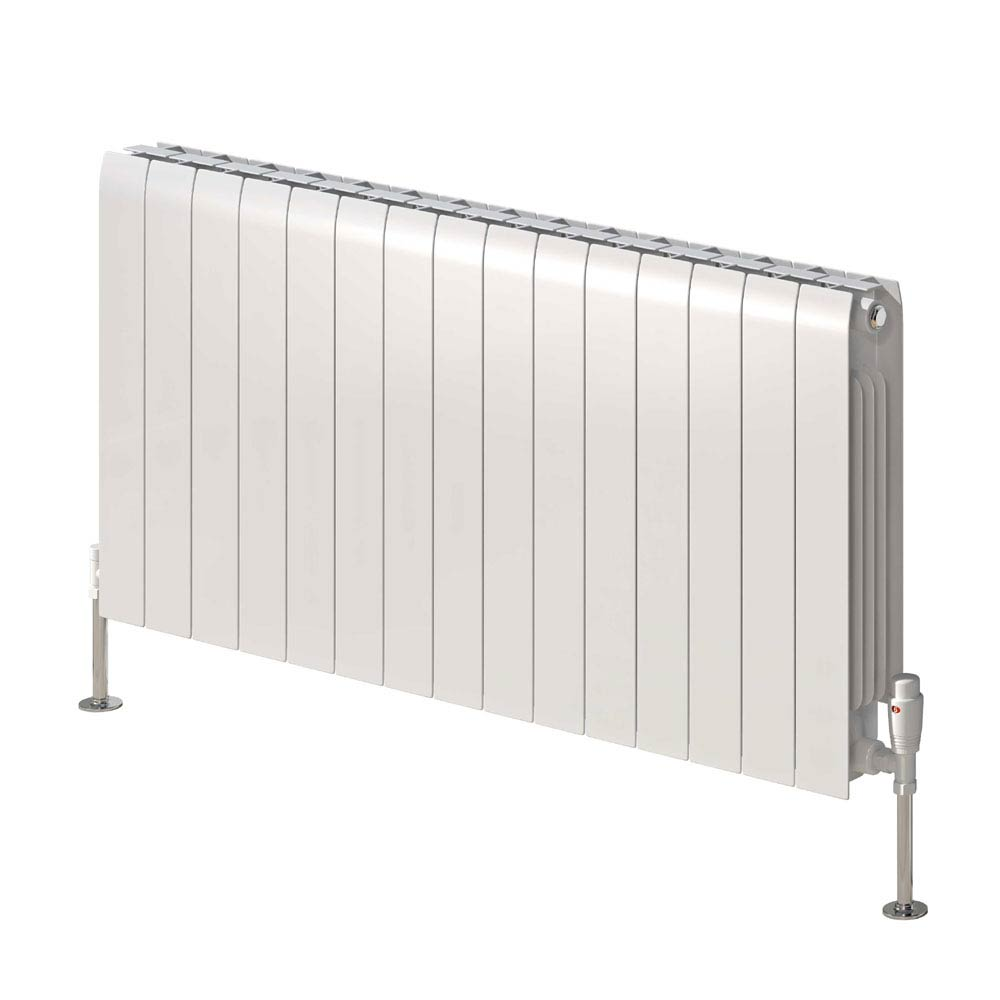Reina Miray Horizontal Aluminium Radiator - White  Profile Large Image