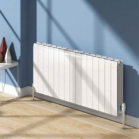 Reina Miray Horizontal Aluminium Radiator - White