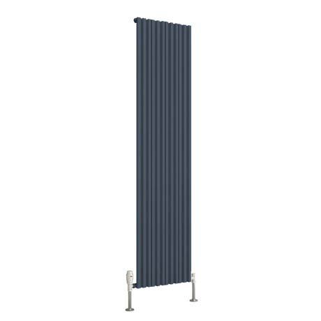 Reina Quadral Vertical Single Panel Aluminium Radiator - Anthracite