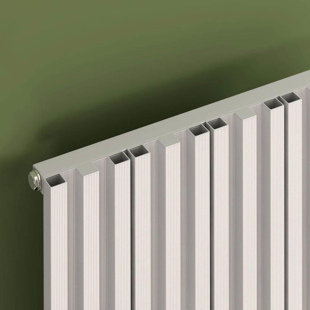 Reina Quadral Vertical Single Panel Aluminium Radiator - Anthracite  Profile Large Image