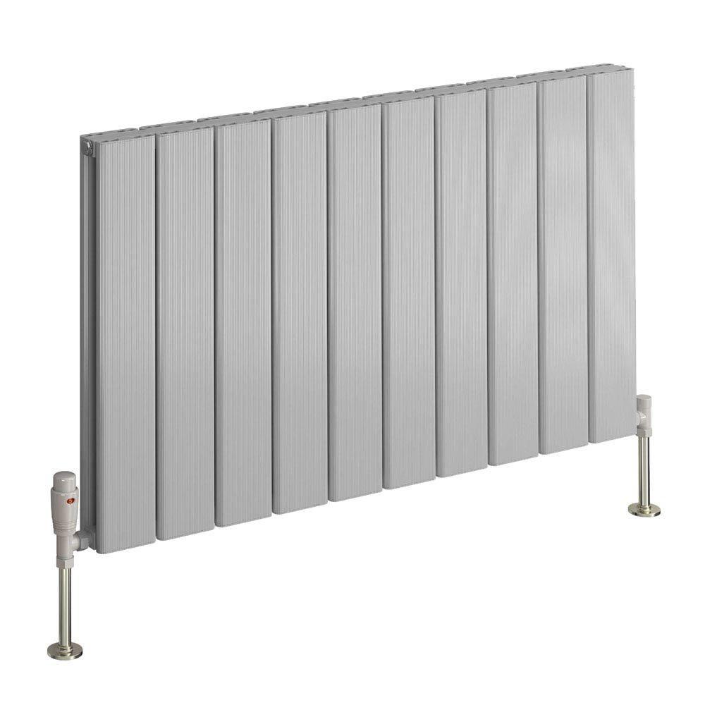 Reina Stadia Horizontal Double Panel Aluminium Radiator - Polished