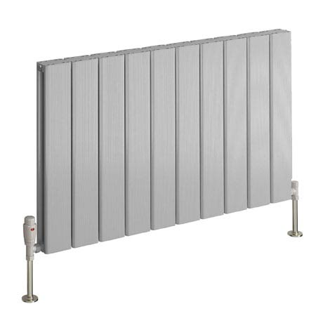 Reina Stadia Horizontal Double Panel Aluminium Radiator - Polished