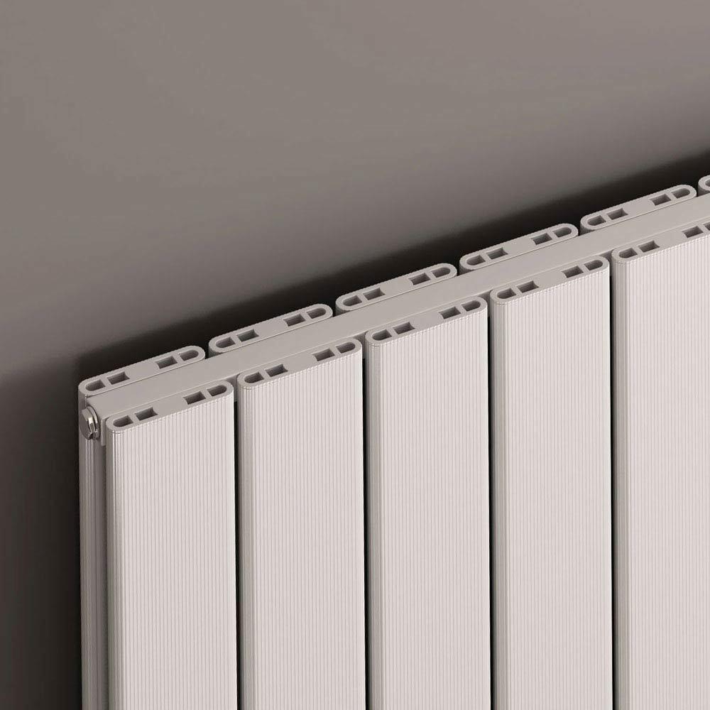 Reina Stadia Horizontal Double Panel Aluminium Radiator - Anthracite profile large image view 2