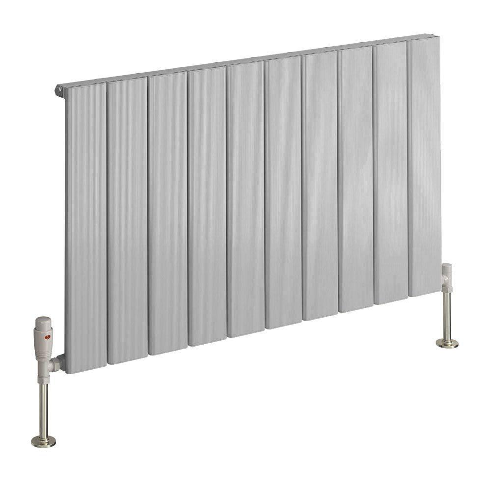 Reina Stadia Horizontal Single Panel Aluminium Radiator - Polished Large Image