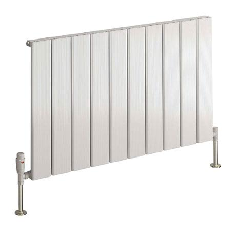 Reina Stadia Horizontal Single Panel Aluminium Radiator - White